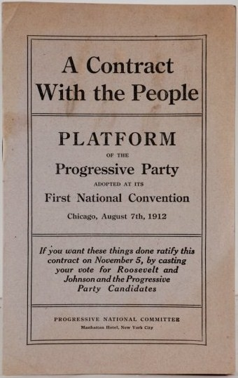 Pamphlet version of the 1912 Progressive Party platform