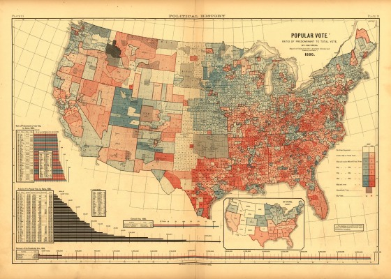 Scribners 1880 Popular Vote Map