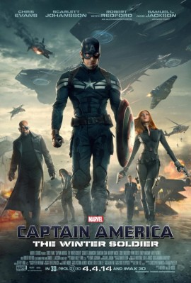 Promotional poster for Captain America: The Winter Soldier
