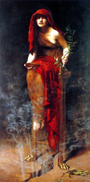 Priestess of Delphi by John Collier (retrieved via Wikimedia Commons)