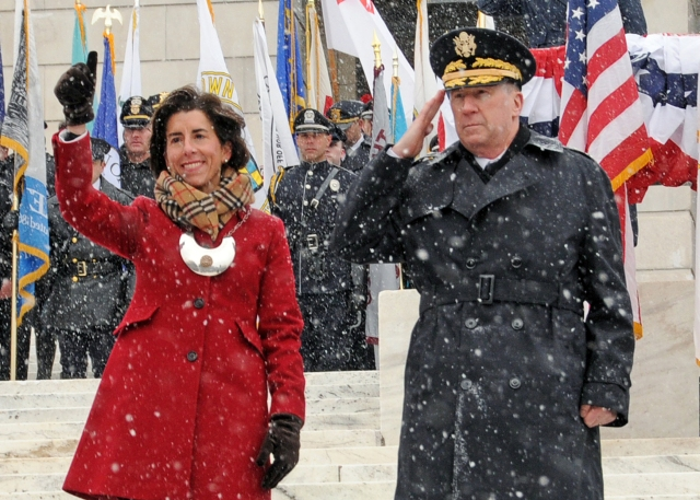 Gov. Gina Raimondo is sworn in as Rhode Island governor