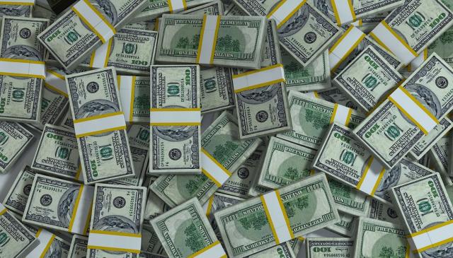 Packs of cash