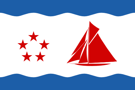 Flag of Bristol Triband new waves 300px