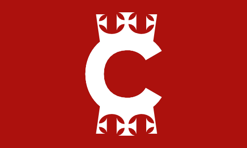Charlescrown flag red
