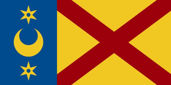 Flag of Burillville based on CoA