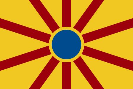 Flag of Burrillville Crescent Wheel b