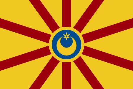 Flag of Burrillville Crescent Wheel