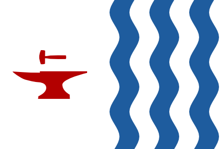Flag of Central Falls Anvil and Falls