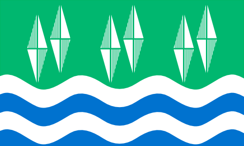 Flag of Cumberland off of UK