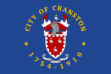 Real Current Flag of Cranston